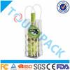 Plastic wine bottle cooler bag with -packs ,Bottle Wine Cooler Bag