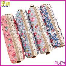 Beauty Flower Lace Pencil Pen Case Cosmetic Makeup Bag Zipper Cloth Pouch Purse Wholesale