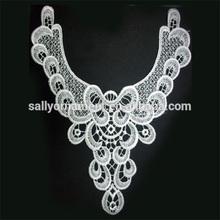 Beautiful White Viscose Embroider garment accessories fashion collar