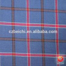 100% ctn yarn dyed twill check spandex seersucker fabric for garments