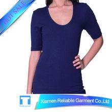 Slim fit Custom cheap plain black t-shirts OEM/ODM accept