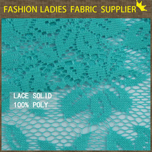 new arrival and fashionable 100 % polyester lace solid fabric for ladies' wear high quality african cord lace fabric