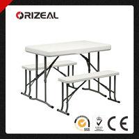 Orizeal Plastic Folding Picnic Table Bench OZ-2233