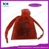 drawstring cute rosette organza bags