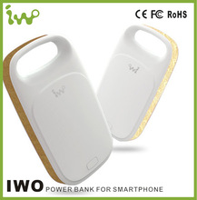 Iwo P38 external portable power bank with fashionable leather design and flashing LED lights,with high quality battery
