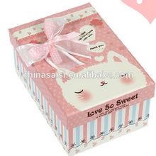 Unique folding paper cardboard baby shoe box pattern