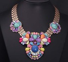 New Big Watch Chain Top Party Fashion Luxury Colourful Shourouk Style Chunky Chocker Statement Necklace