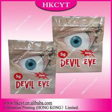 Aluminum Foil Devil Eye 5g Customer Logo For Herebal Incense Packaging