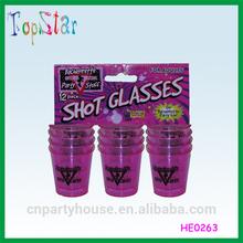 China Supply Bachelorette Party Stuff of Plastic Shot Glass
