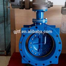 DN250 Ductile iron Double eccentric Flange butterfly valve