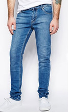 Cheap men Jeans Tight Skinny Fit in Base Dark Blue