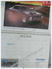 customized 2015 spiral binding cool car wall calendar