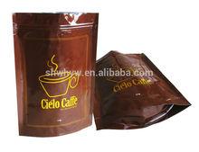 plastic heat seal aluminium foil bag for coffee packaging