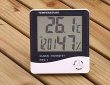 Digital temperature and humidity meter temperature hygrometer clock HTC-2for temperature hygrometer and calendar