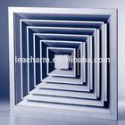 Square ceiling diffuser,aluminum ventilation grills, insulating sound board, interior wall decorative panel
