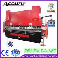 WE67K-300Tx4000 DELEM DA-66T Hydraulic CNC Stainless Steel Press Brake for Sale