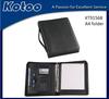 PU Leather A4 ring binder document folder zipper folder presentation folder