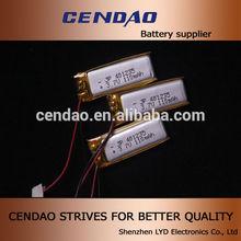 cendao li polymer battery 3.7v 110mah 401235 diamension 3.7volt li polymer battery polymer li-ion battery charger