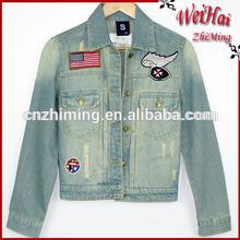 girls old wash finish special denim jackets
