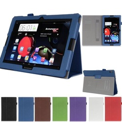 """Hand Strap Leather Case Skin Card Wallet Cover For Lenovo A10-70 A7600 10.1"""" Tablet"""