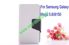 Litchi Lines Leather Case cover for samsung galaxy mega 5.8 i9150 with magnet