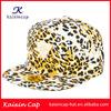 New Fashion Custom Leopard Print Snapback Cap Wholesale Hip Hop Snapback Hat With Metal Logo High Quality Snapback Sport Cap