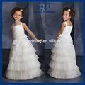 vente en gros fl113 belle princesse blanche niveaux mariage tulle fleur fille robe modèles