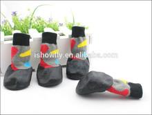 2014 new fashion dog rubber silicone pet socks/pet anti-slip shoe socks blue color