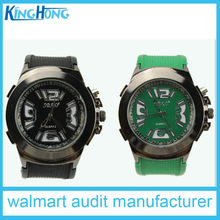 black green lover silicone watch for valentine's day from SEDEX factory