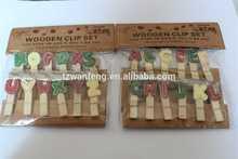 Fashion promotion art wooden clip metal belt clip hardware