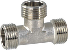 Brass male equal tee fitting with nickle plated .YT1825