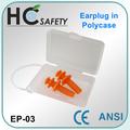 inalámbrico de setas tapones para los oídos en estuche de almacenamiento eraplugs reutilizables