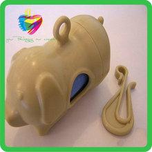 Yiwu colored biodegradable dog shaped pet waste bag