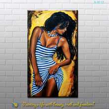 the beautiful indian girl oil painting for wall art