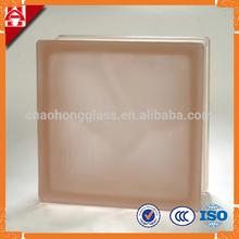 Glass block cloudy brown