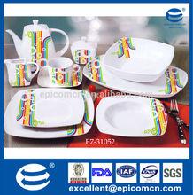 47pcs porcelain banquet set,porcelain dinner sets,daily use white porcelain dinnerware sets