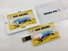 Business card usb flash drive,customized print your logo