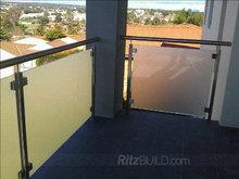 Contemporary & hot style glass railing dubai stainless steel railings