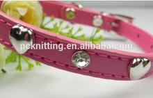YIWU China Wholesale Dog Products Colorful Fashion PU Wholesale Dog Collar For Sale