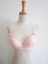bare pink flower bra