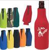 Custom Printing Neoprene bottle Cooler/bottle koozie with zipper