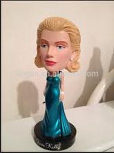 Resin custom Grace Kelly bobble head