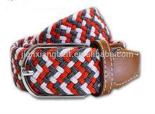 customized 2014 high quality 110cm-140cm new unisex men's women's woven elastic stretch belts
