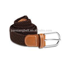 customized 2014 high quality 110cm new unisex men's women's woven elastic stretch belts