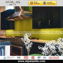 lemon yellow glass tile glass brick bar thickness 8mm glass tile