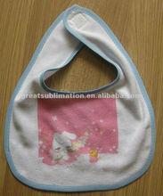 Sublimation printable Baby bib Colorful edge