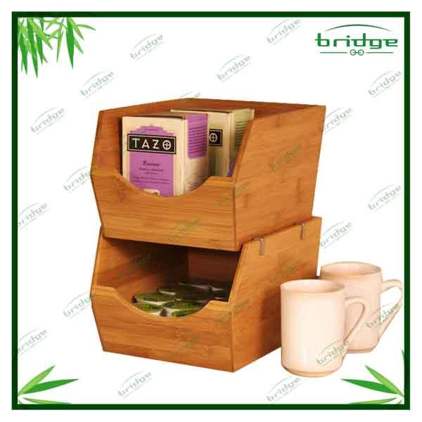 Hete verkoop natuur bamboe keuken accessoires plank opbergbox opslag flessen potten product id - Plank keuken opslag ...