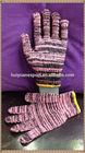 Black & pink working cotton glove