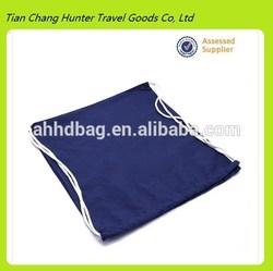 Blue cotton drawstring bag, draw string bag