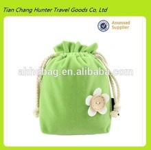 Fancy colorful Velvet drawstring bag for wedding gift